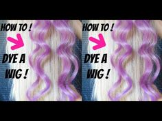 How To Dye A Synthetic Wig ! (Easy,Affordable & Simple) - YouTube