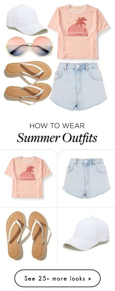 """// casual outfit for a warm summer day //"" by igglynn on Polyvore featuring Aéropostale, Topshop, Hollister Co., ZeroUV and Sole Society"