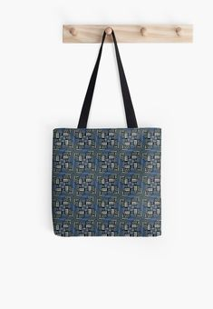 'Dark Hand drawn geometric design' Tote Bag by Vanessa Bentley Iphone Wallet, Iphone Cases, Ipad Case, Tote Bags, Hand Drawn, Chiffon Tops, Duvet Covers, How To Draw Hands, Blues