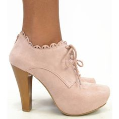 Monroe Blush Suede Platform Heels