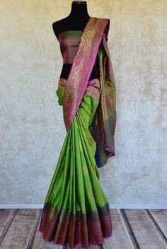 Pure Elegance Muga Banarasi Silk Saree