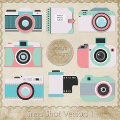 JC Snap Shot Vectors 1 [Josy Carson] : CU Digitals, Commercial Use / CU Digital Scrapbooking elements, templates, overlays, actions, scripts and tools