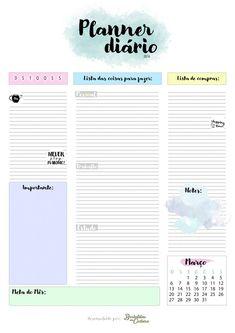 Resultado de imagen para planner 2016 para imprimir dieta