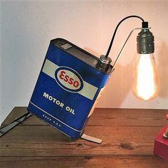 Creative Diy Industrial Pipe Lamp Design Ideas Home Ideas Pipe Lighting, Rustic Lighting, Industrial Lighting, Cool Lighting, Stained Glass Lamp Shades, Luminaire Vintage, Creation Deco, Steampunk Lamp, Industrial Pipe