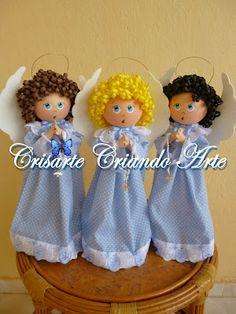 Crisarte - Criando Arte: Anjinho Poá Azul Crisarte