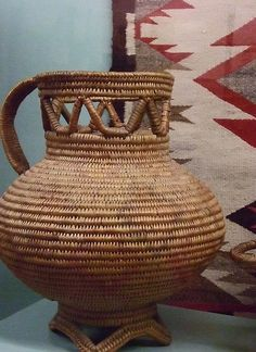 Jicarilla Apache Woven Pitcher | Photographed at the Maryhill Museum of Art in Goldendale, Washington.