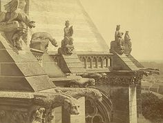 Unidentified photographer, Amiens Cathedral Gragoyles, ca. 1870-86. Albumen print. 15/5/3090.01427, Andrew Dickson White Architectural Photographs Collection. Division of Rare and Manuscript Collections, Cornell University Library