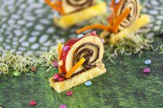 Com as crianças de férias sabe bem partilhar a cozinha e preparar Caracóis de fruta com creme de avelã.