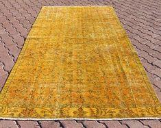 turkish rug oushak rug vintage rug turkey by turkishrugempire Yellow Rug, Vintage Rugs, Bohemian Rug, Turkey, Home Decor, Decoration Home, Turkey Country, Room Decor, Home Interior Design
