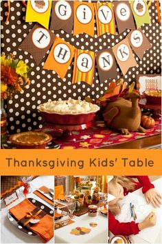 Kids' Table Decorations for Thanksgiving www.spaceshipsandlaserbeams.com