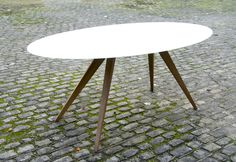 Ovale Eettafel: 190 x 92 cm  www.design-tafel.be Design Table