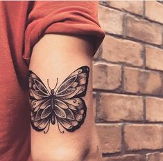 i hate butterfly tattoos but this one is so pretty