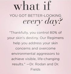Rodan + Fields gives you the best skin of your life and the confidence that comes with it. Created by Stanford-trained Dermatologists, we understand skin. Our easy-to-use Regimens take the guesswork out of skincare so you can see transformative results. Anti Aging Treatments, Skin Care Treatments, Love Your Skin, Good Skin, Best Anti Aging, Anti Aging Skin Care, Skin Care Regimen, Skin Care Tips, Rodan And Fields Business