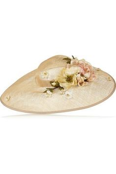 Flower-embellished sinamay hat #hat #covetme #piersatkinson