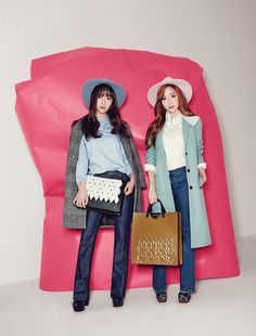 Jung Sisters Jessica and Krystal for Lapalette Spring 2015! #KPOP
