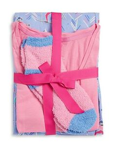 Hue Ski Club Top, Pants and Socks Set Women's Pink X-Small