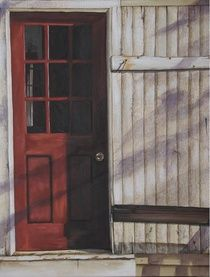 Red Door In My Dreams Wrapped Canvas - Edges completed Acrylic Visual Display, Canadian Artists, Cheryl, Wrapped Canvas, In This Moment, Dreams, Artwork, Red, Pictures