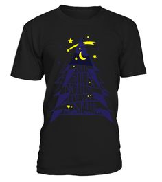 Lovely Abstract Christmas Tree Moon And Starswbgwcpf 6148  Funny lonely T-shirt, Best lonely T-shirt
