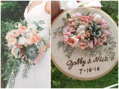 Silk Ribbon Embroidery, Embroidery Hoop Art, Custom Embroidery, 4th Wedding Anniversary Gift, Anniversary Gifts For Wife, Wedding Keepsakes, Wedding Gifts, Wedding Ideas, Wedding Bouquets