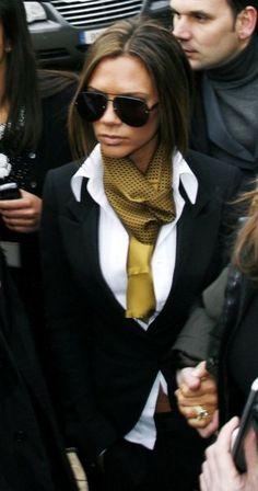 Victoria Beckham Style Black Blazer