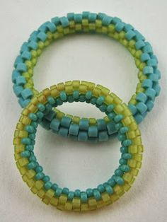 Full peyote bangle photo tute from Love My Art Jewelry. Great first project.  #Seed #Bead #Tutorial