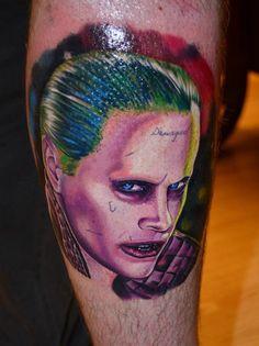 #joker #jokertattoo #colourtattoo #colour #suicidesquad #dc #dccomics #film #portraittattoo #portrait #realistictattoo #realism #budapesttattoo #turaniumtattoomachine #budapest #renegadetattooclassic #tattoo #ink