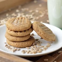 Three-Ingredient Sunbutter Cookies HealthyAperture.com