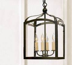 Gothic Lantern #potterybarn  Our mudroom light fixture.