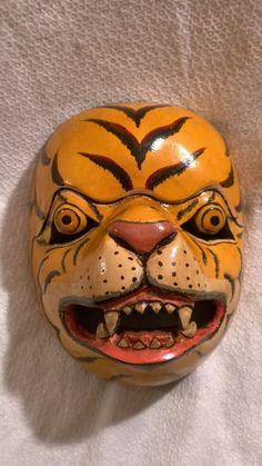 HAMONGGA Tiger avatar/warrior Wayang Orang wooden real dance MASK Java AWESOME
