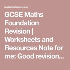 Maths genie free online gcse and a level maths revision hs gcse maths foundation revision worksheets and resources note for me good revision site fandeluxe Images