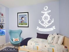 Nautical decal  nautical wall sticker  048 by awesomeDecals, $28.00