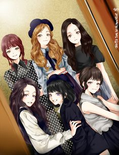 Time For The Moon Night photo teaser (Moon Vers. Friend Cartoon, Friend Anime, Art Friend, Kpop Girl Groups, Kpop Girls, Anime Girls, Sad Anime, Anime Art, Anime Group Of Friends