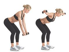 Shoulders - bent over lateral raise aka reverse fly aka Rear-Delt Raises - 5 lbs