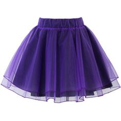 Chicwish Organza Tulle Skirt in Purple