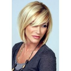 Graceful Straight Side Bang Light Blonde Mixed Brown Synthetic Short Wig For Women