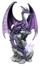 Large Hoarfrost Twilight Dragon Guarding LED Light Crystal Elements St– Ebros Gift Dragon Statue, Dragon Art, Dragon Garden, Blue Dragon, Fantasy Dragon, Fantasy Art, Fantasy Drawings, Fantasy Creatures, Mythical Creatures