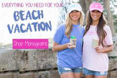 Pink Lily Monograms Beach Vacation Collection