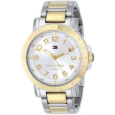 Tommy Hilfiger Two-Tone Stainless Steel Watch ( 71) ❤ liked on Polyvore  featuring 0b19965053