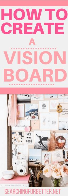 I loved these inspirational tips on how to create a vision board for your goals! There's a great (real!) example of how creating a vision board really works! #visionboard #goals #2018 #motivation