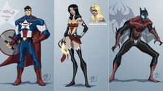 DC and Marvel characters combine to form the ultimate superheroes