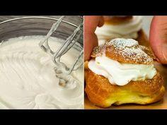 Už jste někdy dělali profiterole? Nejjednodušší recept, který zaručeně zvládnete.  Chutný TV - YouTube Profiteroles, Food Cakes, Pasta Choux, Saveur, Biscotti, Cake Recipes, Baking, Breakfast, Desserts