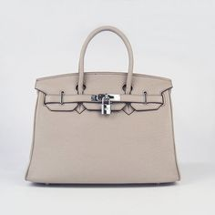 18cc692986 Cheap Hermes Birkin 30CM Togo Leather Bag Grey 6088 Silver On Sale  303.84