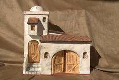 Resultado de imagen para casas para pesebres en carton moldes