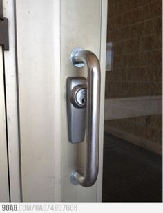 Door lock you can't put a key into