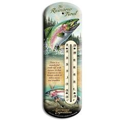"The Three-Dimensional Tin ""Back-Porch Thermometers"" are a fresh and unique presentation for the thermometer category. Each thermometer measures 4"" x 11 3/4"", making it the perfect size to hang on a porch post or railing. The detail in the illustrations and text are embossed in the tin, giving the thermometer a dynamic 3-D finish."