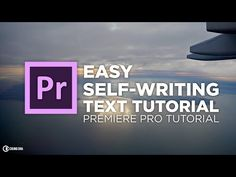 (6) Easy Self-writing Text Tutorial in Adobe Premiere Pro // Chung Dha - YouTube