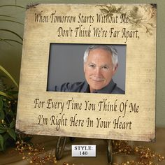 TOM Memorial frames Memorial picture frame by PhotoFrameCompany