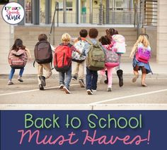 My top 5 must haves for surviving back to school!