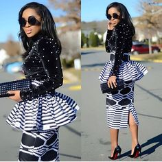 Black & White kinda Friday in Have a blissful weekend beautiful people! Latest African Fashion Dresses, African Dresses For Women, African Print Dresses, African Print Fashion, African Prints, African Wedding Attire, African Attire, African Outfits, African Wear