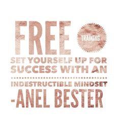 Ladies - join us Monday 11 December at 9 am (New Zealand Time) for some in-depth free training on how to set yourself up for success with an Indestructible Mind-set.  The conversation is happening at www.facebook.com/groups/bizrebels